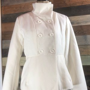 Forever21 Winter White Peacoat